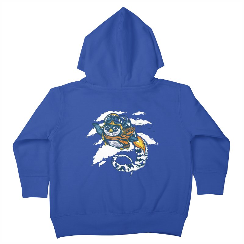 Flying Penguin Kids Toddler Zip-Up Hoody by CPdesign's Artist Shop