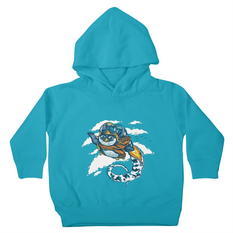 Flying Penguin Kids Toddler Pullover Hoody by CPdesign's Artist Shop