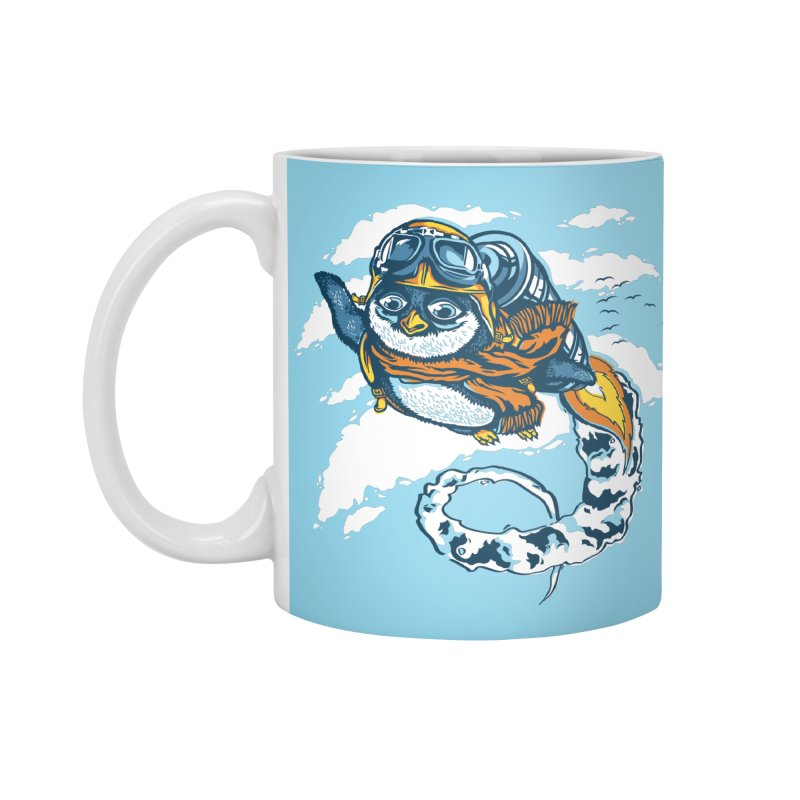 Flying Penguin Accessories Mug by CPdesign's Artist Shop