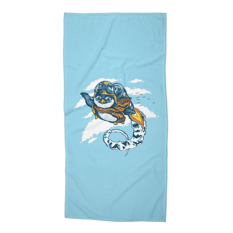 Flying Penguin Accessories Beach Towel by CPdesign's Artist Shop