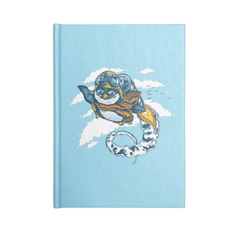 Flying Penguin Accessories Notebook by CPdesign's Artist Shop