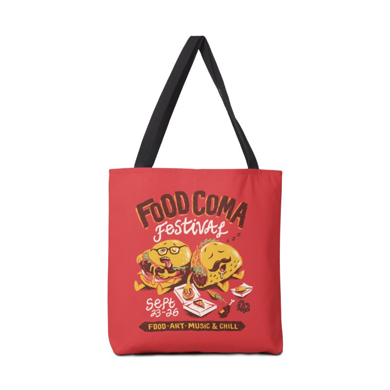Food Coma Accessories Bag by CPdesign's Artist Shop