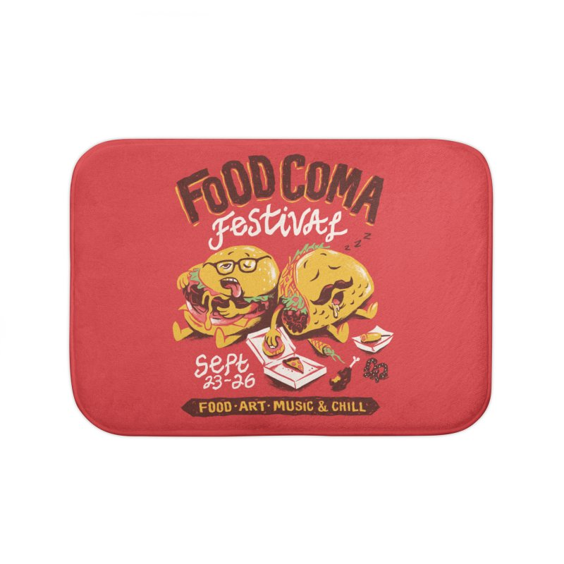Food Coma Home Bath Mat by CPdesign's Artist Shop