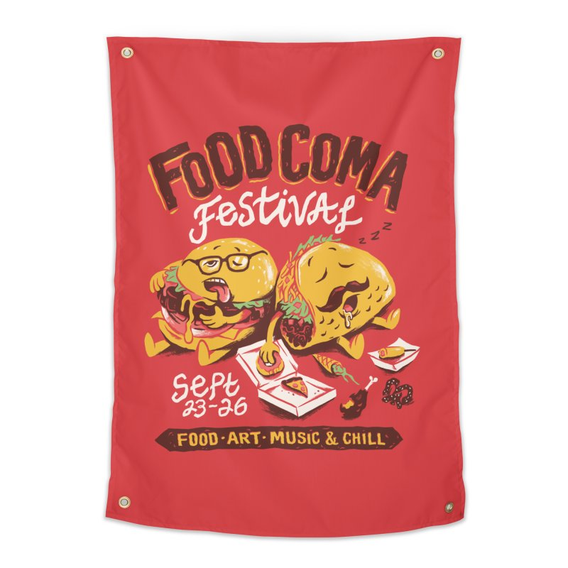 Food Coma Home Tapestry by CPdesign's Artist Shop