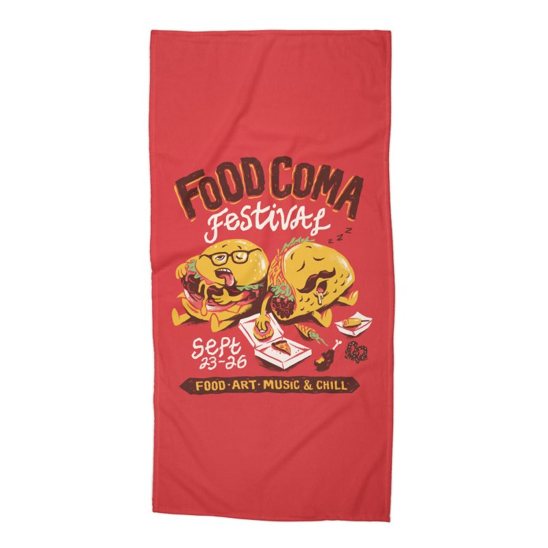 Food Coma Accessories Beach Towel by CPdesign's Artist Shop