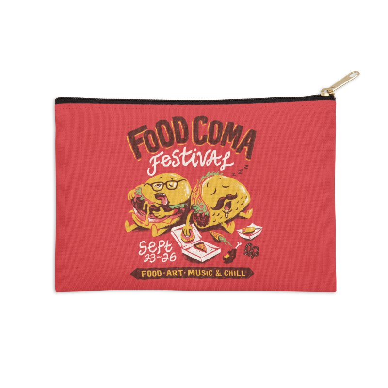 Food Coma Accessories Zip Pouch by CPdesign's Artist Shop