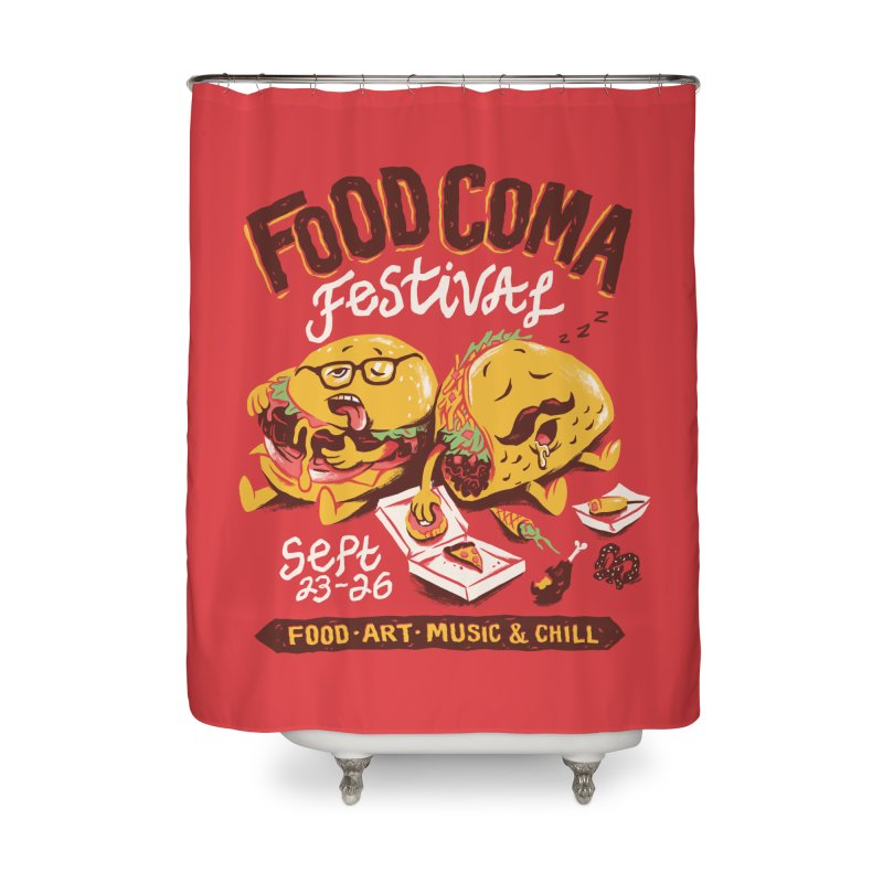 Food Coma Home Shower Curtain by CPdesign's Artist Shop