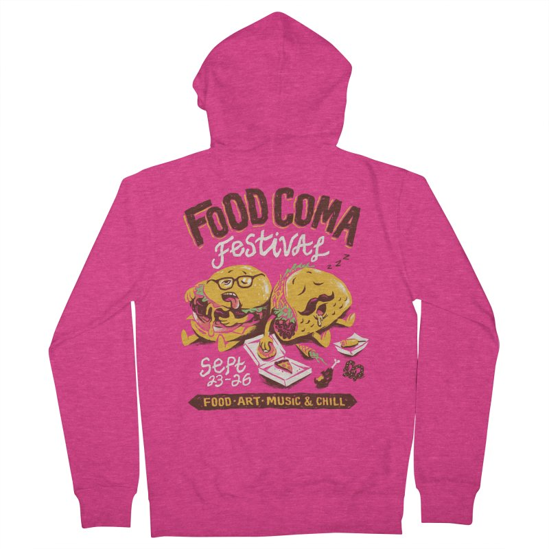 Food Coma Women's French Terry Zip-Up Hoody by CPdesign's Artist Shop