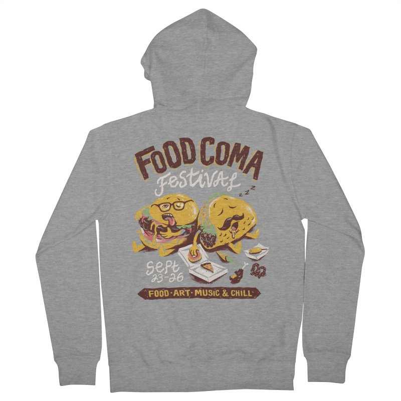 Food Coma Men's French Terry Zip-Up Hoody by CPdesign's Artist Shop