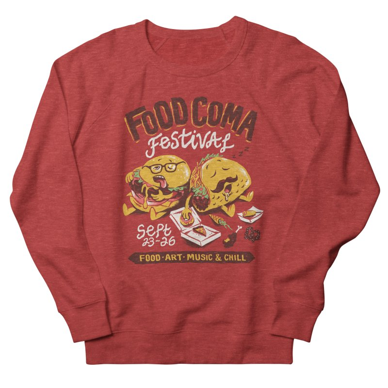 Food Coma Men's French Terry Sweatshirt by CPdesign's Artist Shop