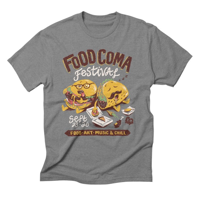 Food Coma Men's Triblend T-Shirt by CPdesign's Artist Shop