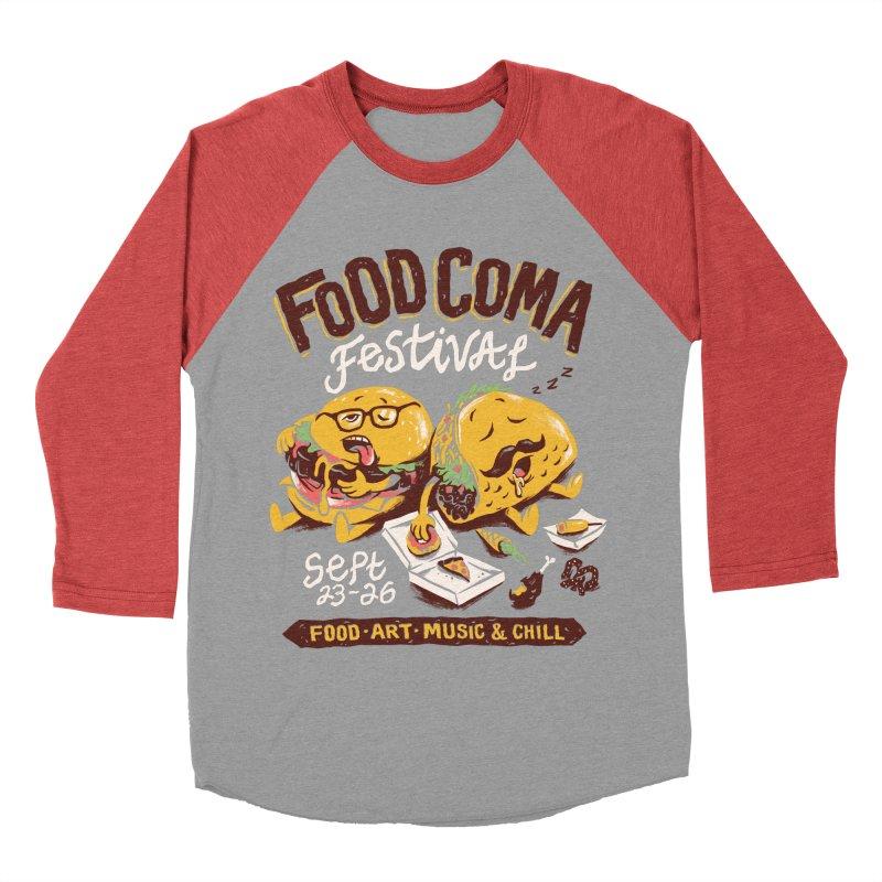 Food Coma Women's Baseball Triblend Longsleeve T-Shirt by CPdesign's Artist Shop