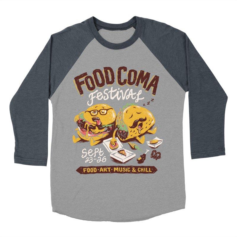 Food Coma Men's Baseball Triblend Longsleeve T-Shirt by CPdesign's Artist Shop