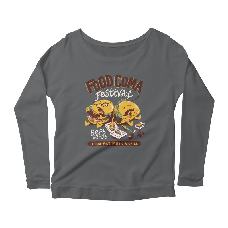 Food Coma Women's Scoop Neck Longsleeve T-Shirt by CPdesign's Artist Shop