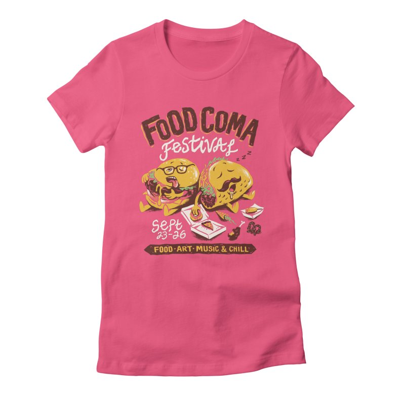 Food Coma Women's Fitted T-Shirt by CPdesign's Artist Shop