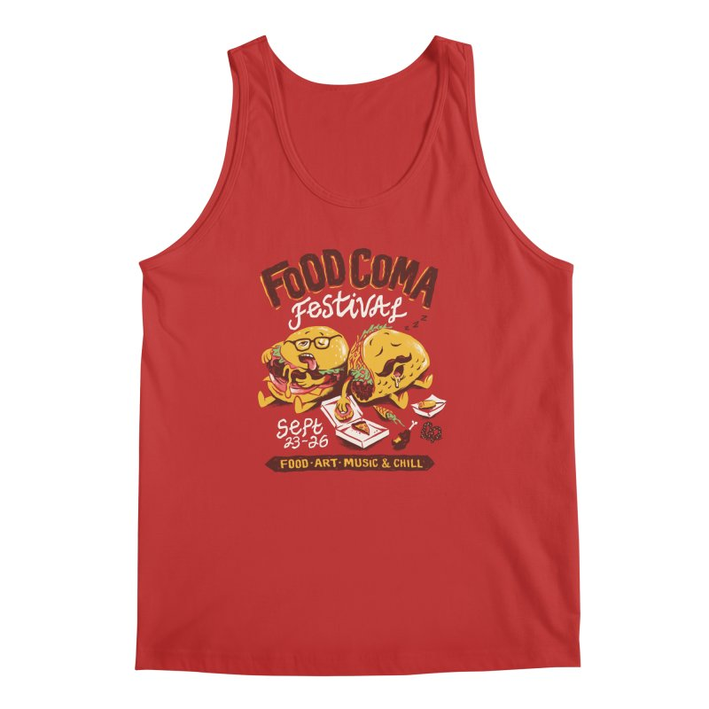 Food Coma Men's Regular Tank by CPdesign's Artist Shop