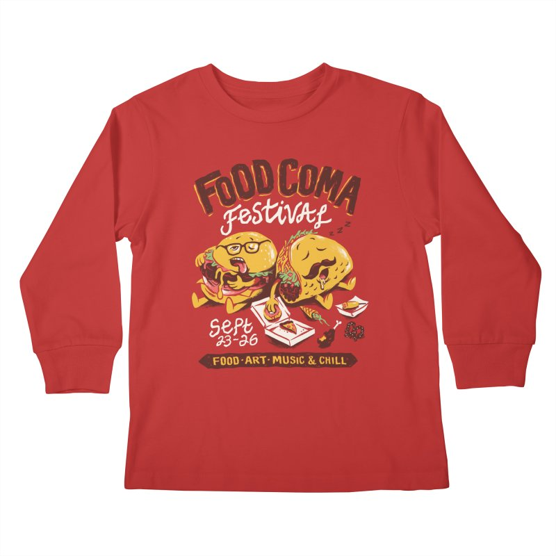 Food Coma Kids Longsleeve T-Shirt by CPdesign's Artist Shop