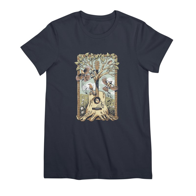 Natural Melody Women's Premium T-Shirt by CPdesign's Artist Shop
