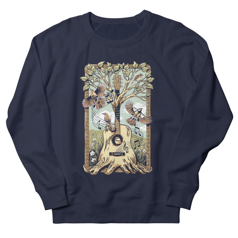 Natural Melody Men's French Terry Sweatshirt by CPdesign's Artist Shop