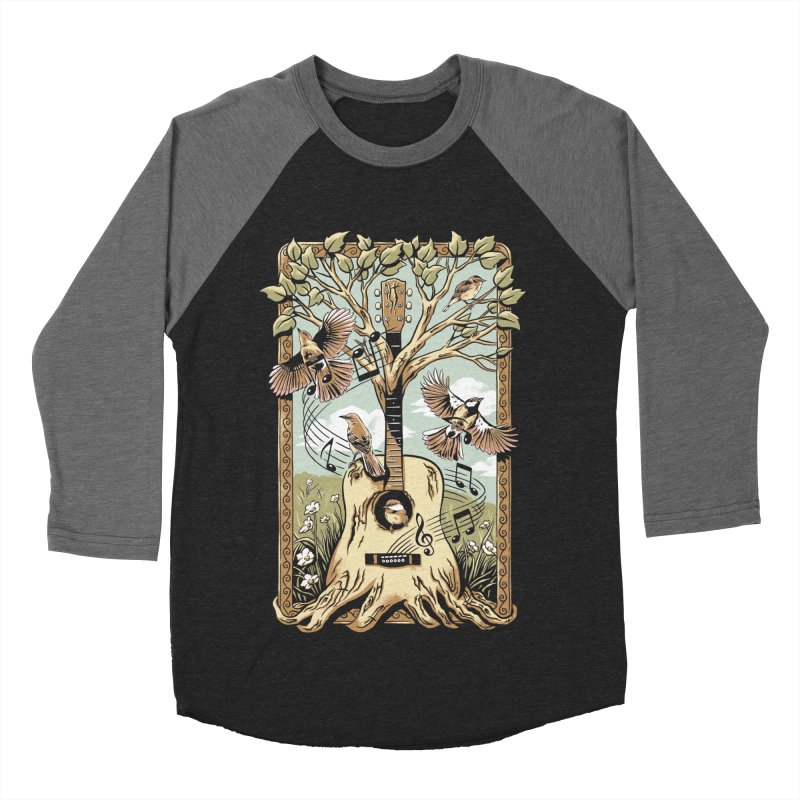 Natural Melody Men's Baseball Triblend Longsleeve T-Shirt by CPdesign's Artist Shop