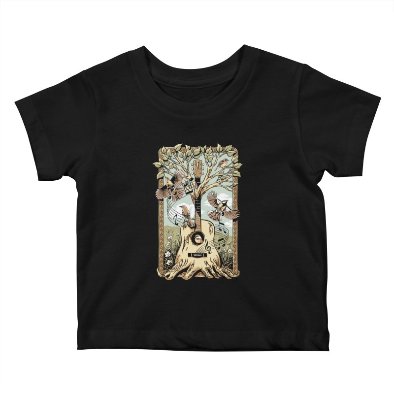 Natural Melody Kids Baby T-Shirt by CPdesign's Artist Shop