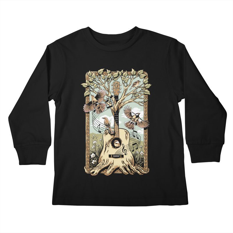 Natural Melody Kids Longsleeve T-Shirt by CPdesign's Artist Shop