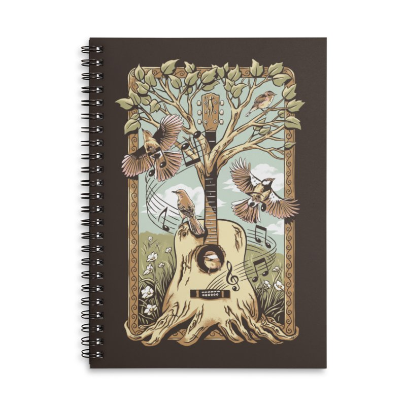 Natural Melody Accessories Lined Spiral Notebook by CPdesign's Artist Shop