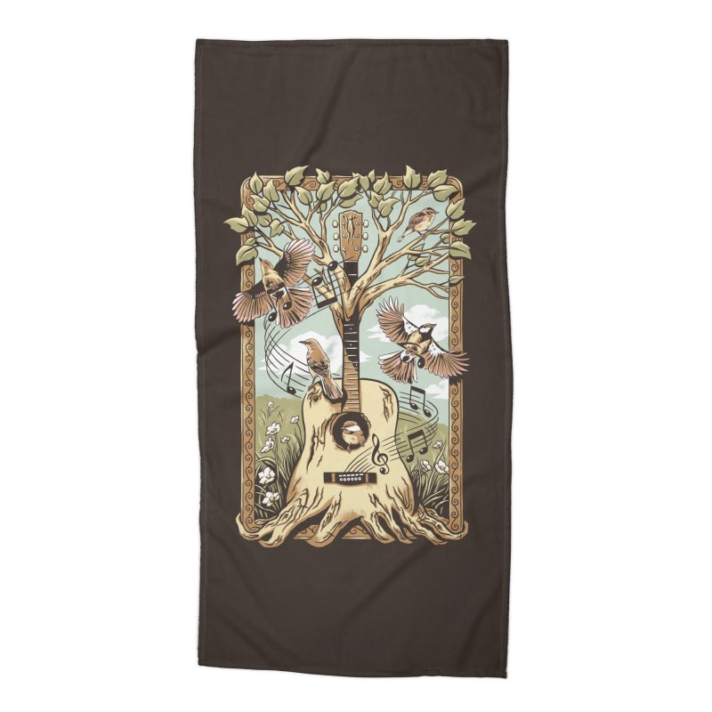 Natural Melody Accessories Beach Towel by CPdesign's Artist Shop