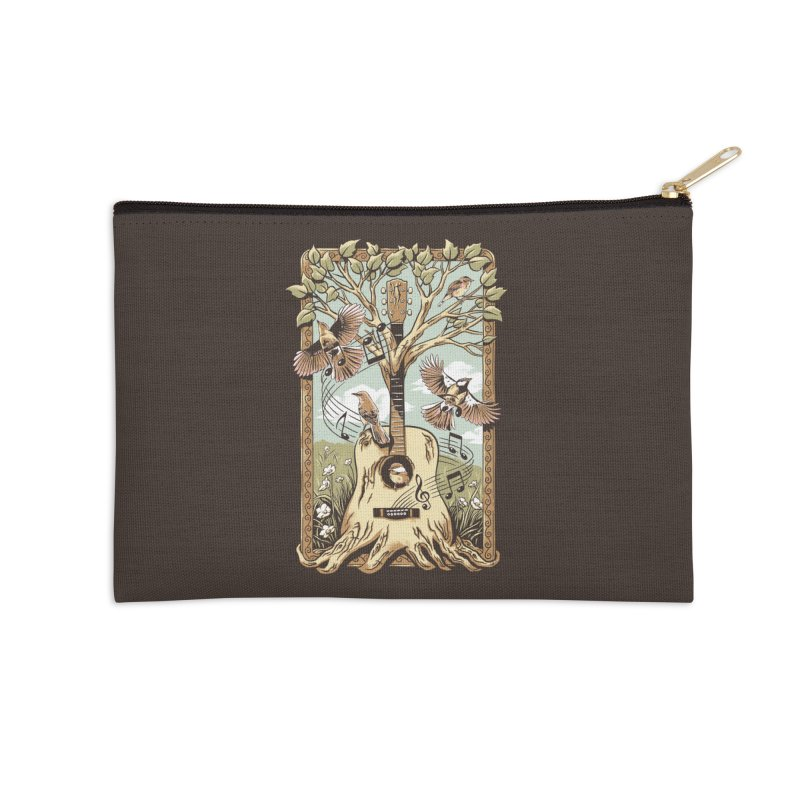 Natural Melody Accessories Zip Pouch by CPdesign's Artist Shop