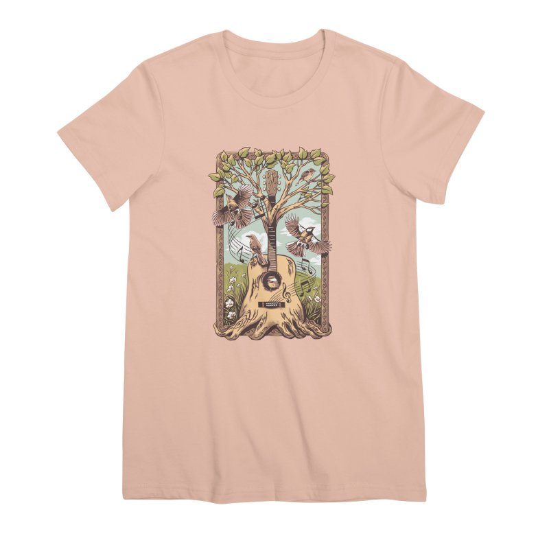 Natural Melody 2 Women's Premium T-Shirt by CPdesign's Artist Shop