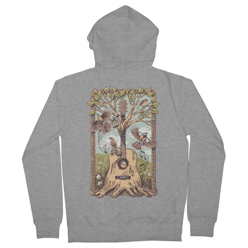 Natural Melody 2 Men's French Terry Zip-Up Hoody by CPdesign's Artist Shop