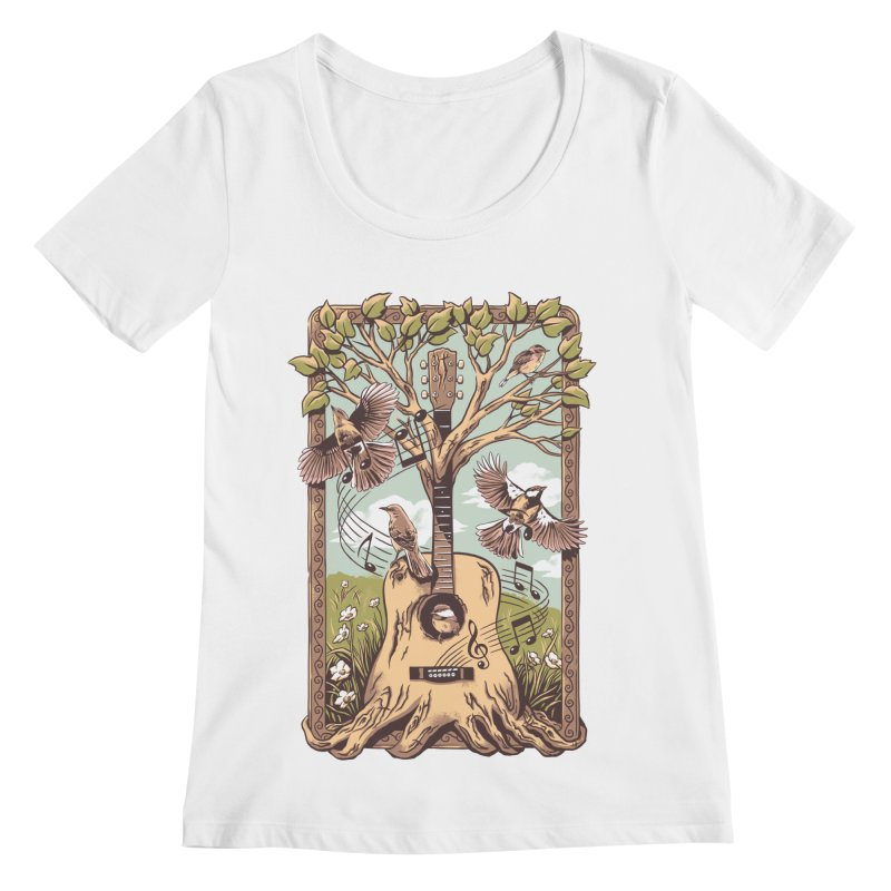 Natural Melody 2 Women's Regular Scoop Neck by CPdesign's Artist Shop