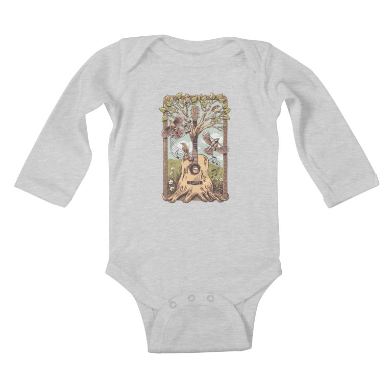 Natural Melody 2 Kids Baby Longsleeve Bodysuit by CPdesign's Artist Shop