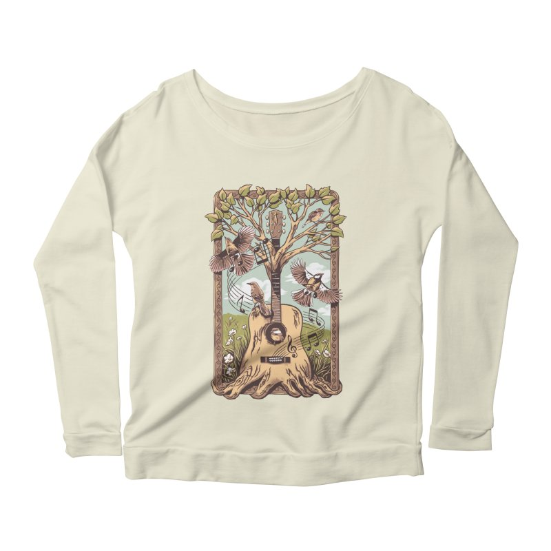 Natural Melody 2 Women's Scoop Neck Longsleeve T-Shirt by CPdesign's Artist Shop