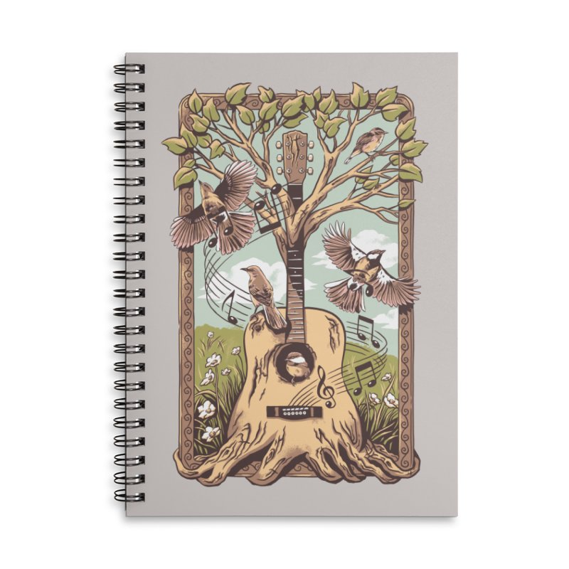 Natural Melody 2 Accessories Lined Spiral Notebook by CPdesign's Artist Shop