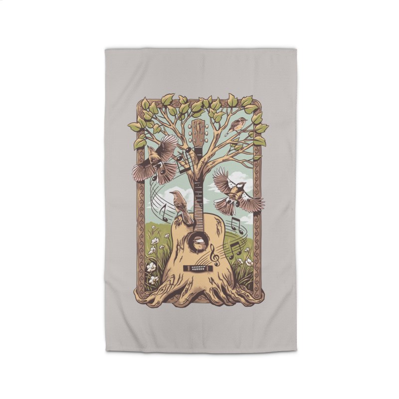 Natural Melody 2 Home Rug by CPdesign's Artist Shop
