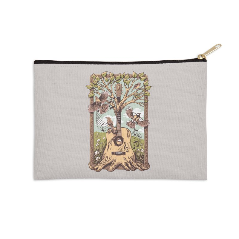 Natural Melody 2 Accessories Zip Pouch by CPdesign's Artist Shop
