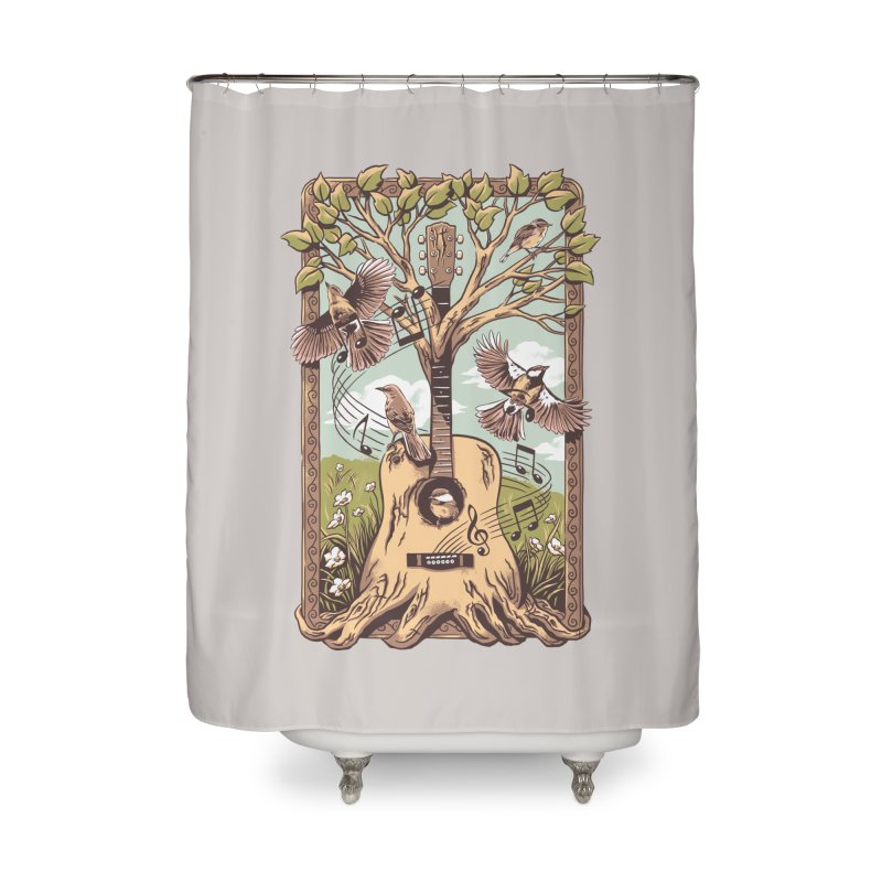 Natural Melody 2 Home Shower Curtain by CPdesign's Artist Shop