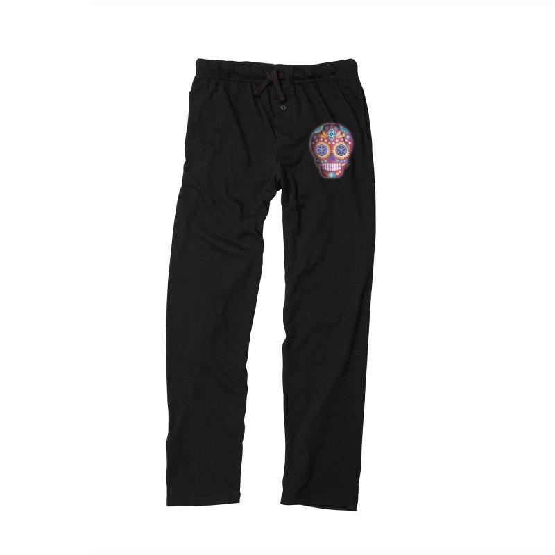 Magenta Skull Women's Lounge Pants by Cesar Peralta