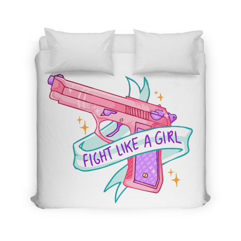 Fight Like a Girl Home Duvet by Cesar Peralta