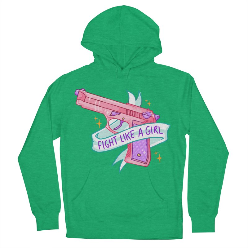 Fight Like a Girl Women's Pullover Hoody by Cesar Peralta