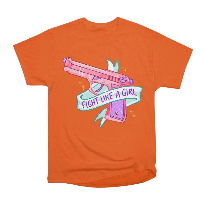 Fight Like a Girl Women's Classic Unisex T-Shirt by Cesar Peralta