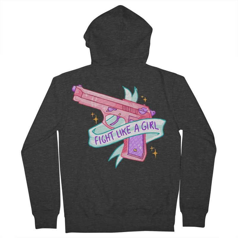 Fight Like a Girl Women's Zip-Up Hoody by Cesar Peralta