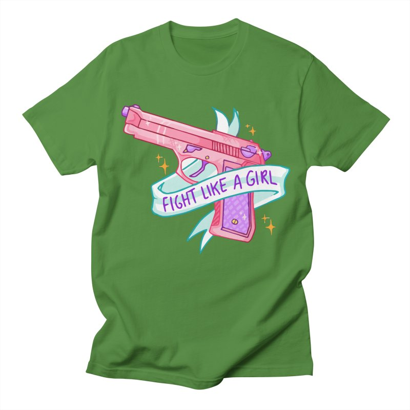 Fight Like a Girl Men's T-shirt by Cesar Peralta