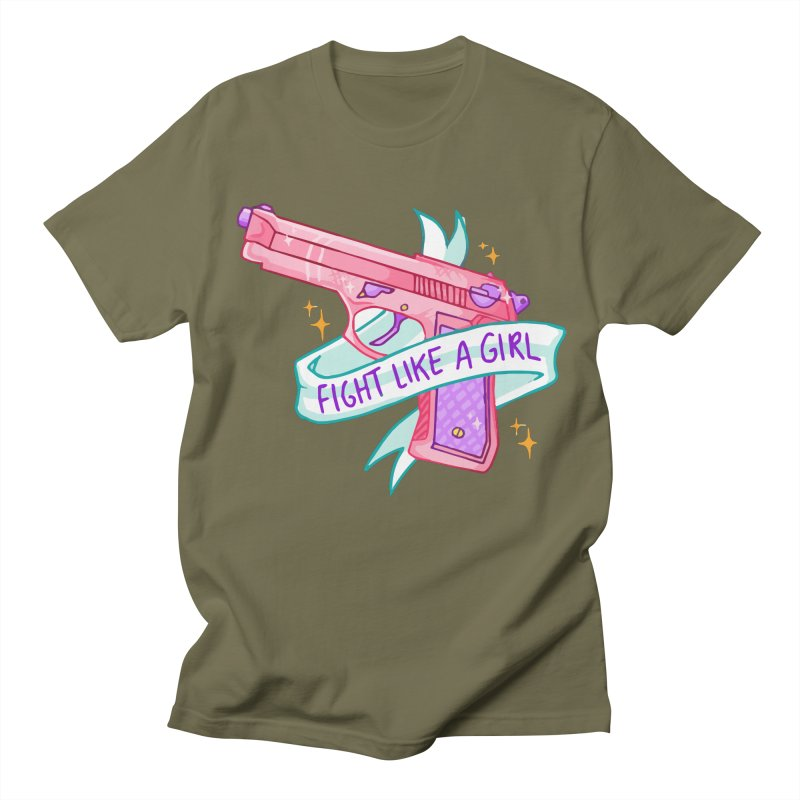 Fight Like a Girl Women's Unisex T-Shirt by Cesar Peralta