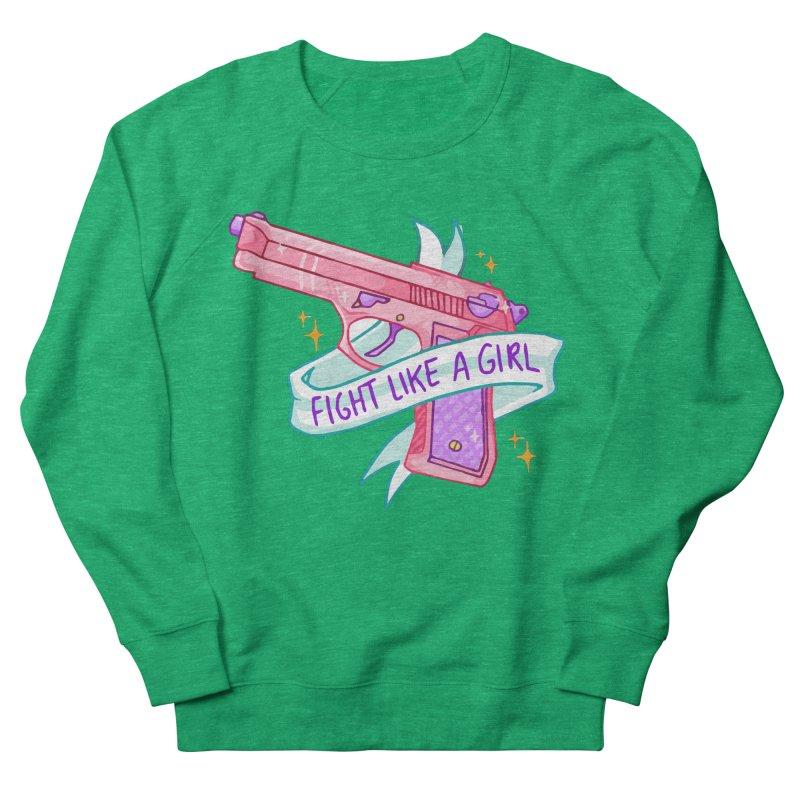 Fight Like a Girl Men's Sweatshirt by Cesar Peralta