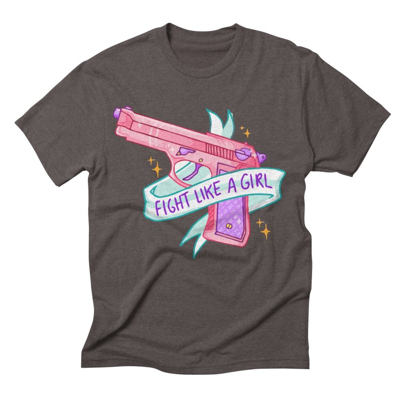 Fight Like a Girl Men's Triblend T-shirt by Cesar Peralta