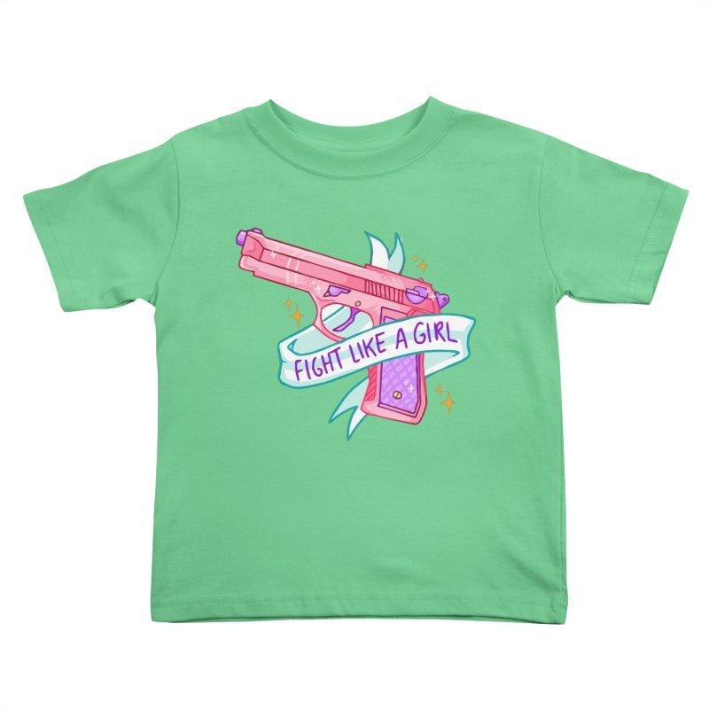 Fight Like a Girl Kids Toddler T-Shirt by Cesar Peralta