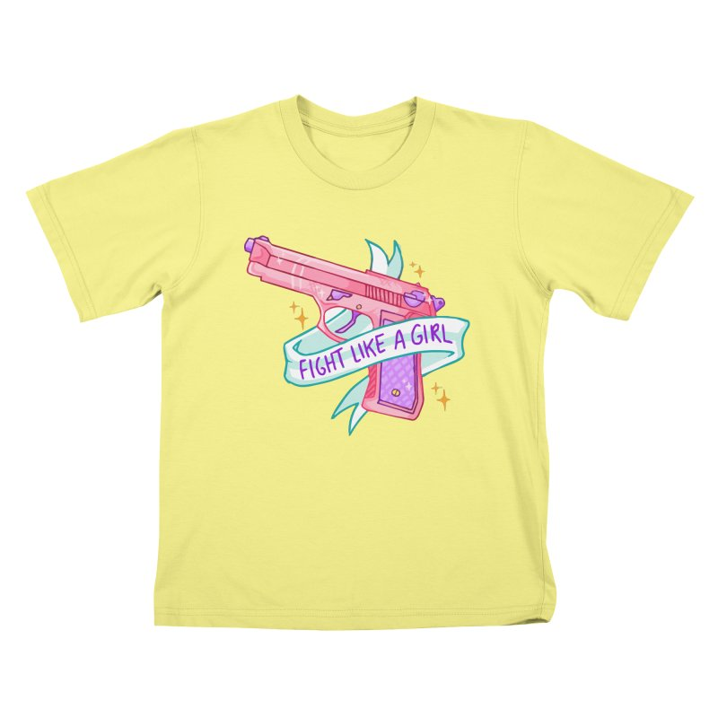 Fight Like a Girl Kids T-shirt by Cesar Peralta
