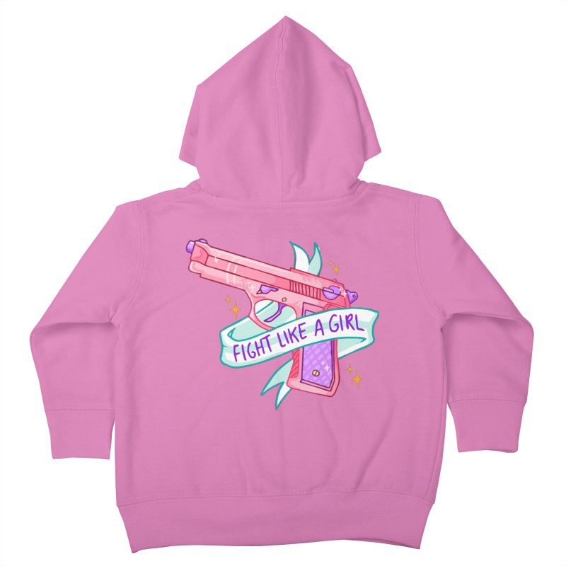 Fight Like a Girl Kids Toddler Zip-Up Hoody by Cesar Peralta